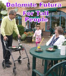 Tall person rollator
