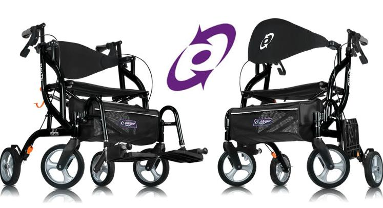 Airgo fusion rollator transport chair