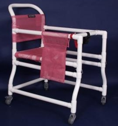 Pvc Anthros 18 Quot Adjustable Arm And Seat Ambulator With 3 Quot Casters