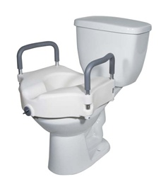 Drive 2 In 1 Locking Elevated Toilet Seat With Tool Free