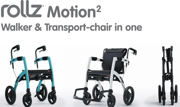 Rollz rollator transport chair