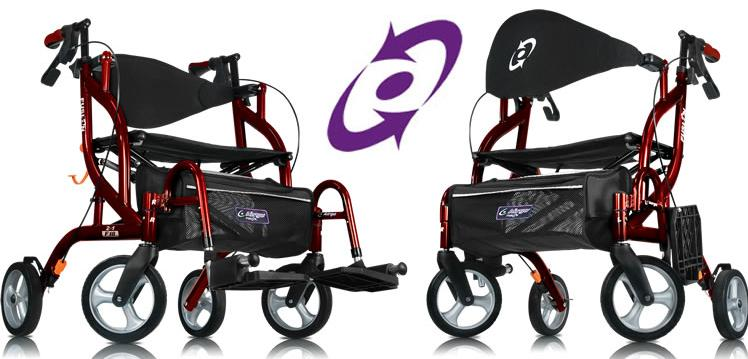 Airgo fusion rollator transport chair    sc 1 st  Wendyu0027s Walkers : rollator and transport chair - Cheerinfomania.Com
