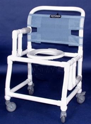 Pvc Anthros 21 Quot Wide Fold Down Arm Shower Chair With 4